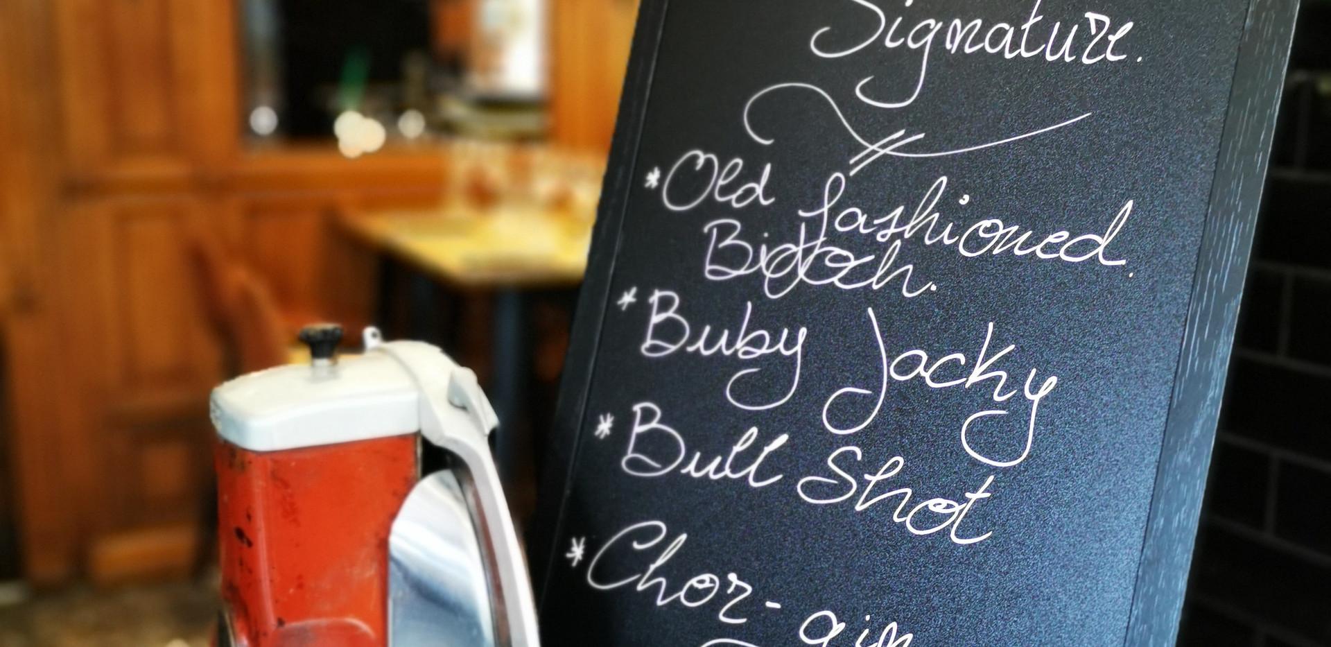 Nos cocktails signature... à la viande!