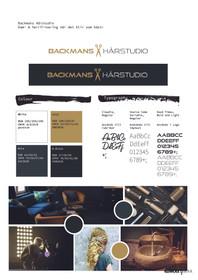 Logo & Grafiskprofil - Backmans Hårstudio