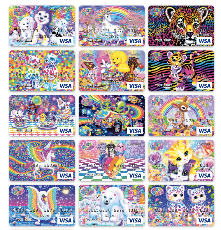 Visa Lisa Frank pre-paid debit cards