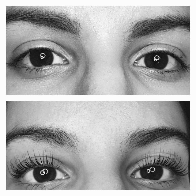 milleniGAL lash lift before and after number 2