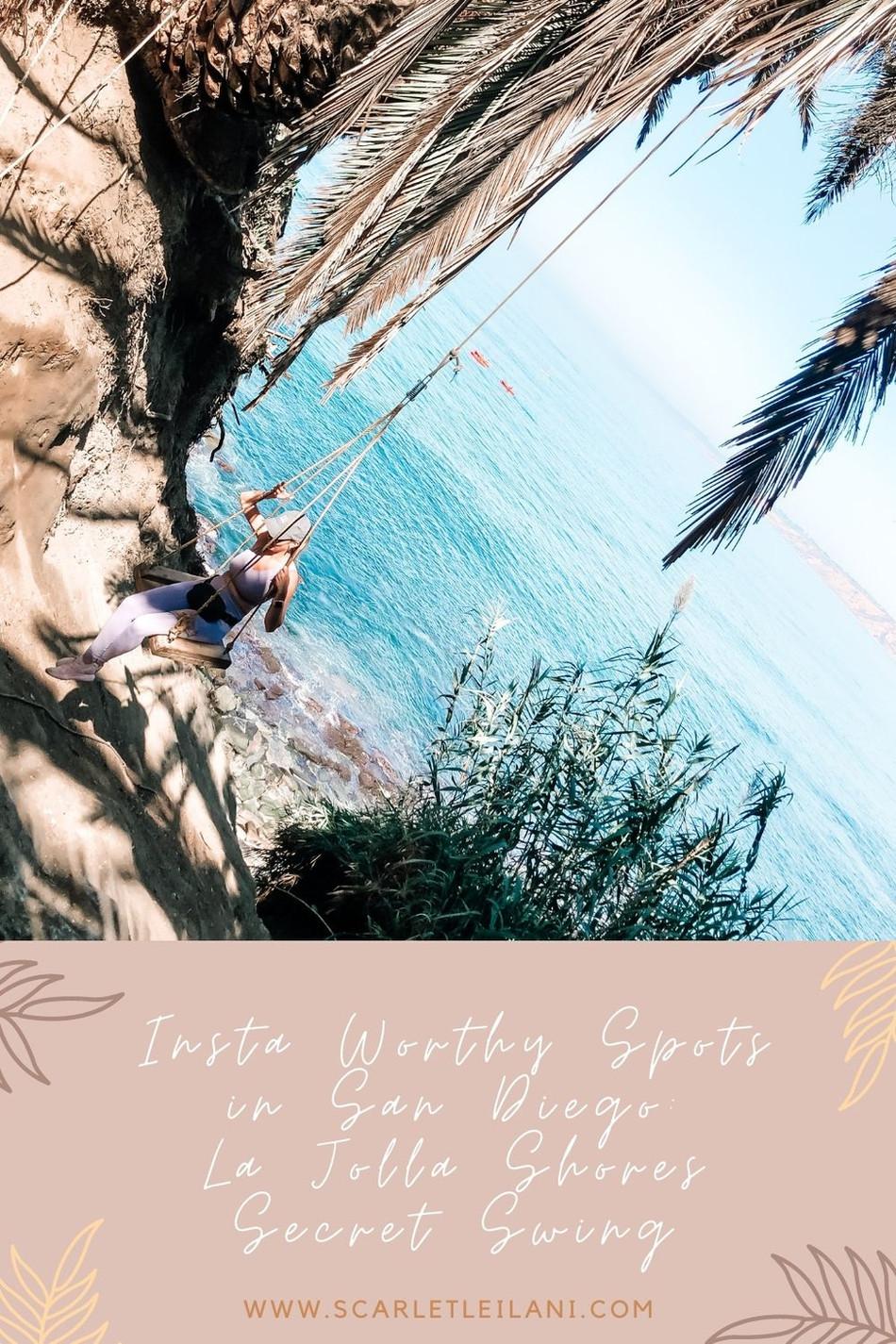 Insta Worthy Spots in San Diego: La Jolla Shores Secret Swing