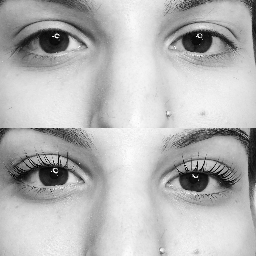 milleniGAL lash lift before and after number 1