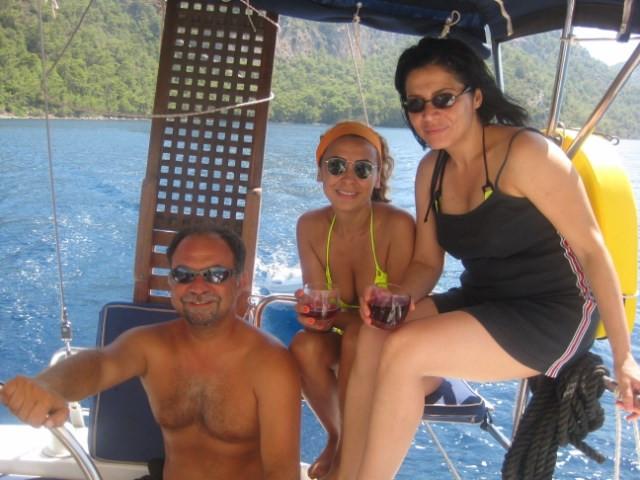 Yelken tekne mavi tur eğitim