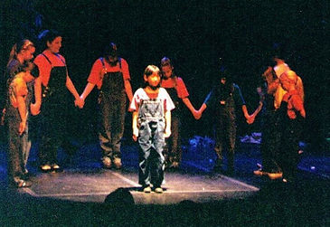 Kids act and perform theater