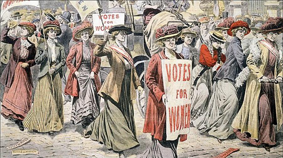 Protest for women's vote, 1918