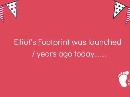 Elliot's Footprint is 7 years old today!