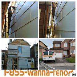 Special Exterior siding panel installati