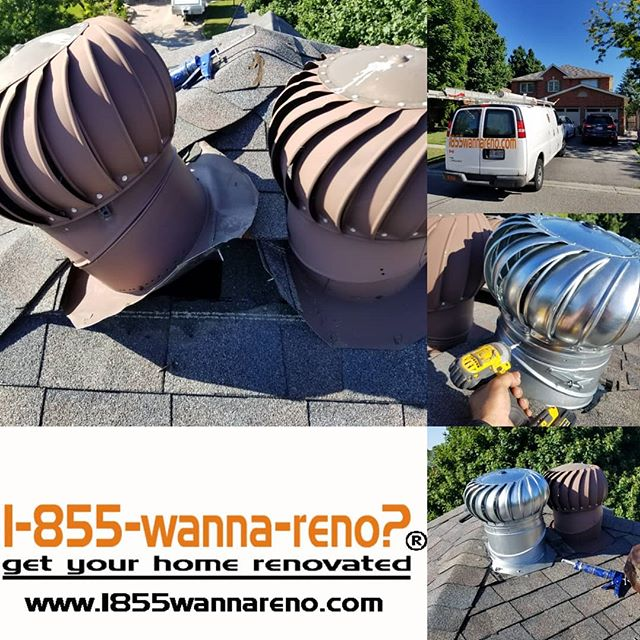 Roof turbine (vent) installation and roo