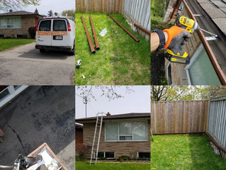Eavestrough repair and downpipes installation in Pickering:No job is too small