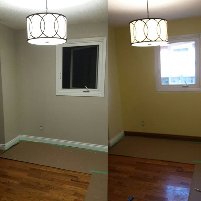 Residential painting job in Oshawa