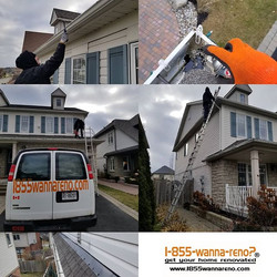 Eavestrough repair and cleanup in Whitby