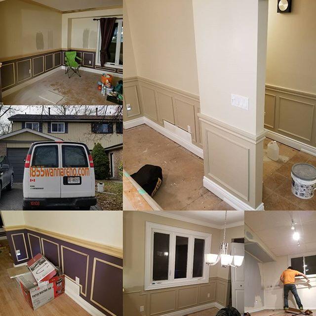 Residential interior painting job in Oshawa