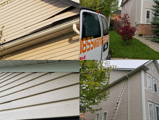Siding repair in Ajax,Ontario: Vinyl repairs