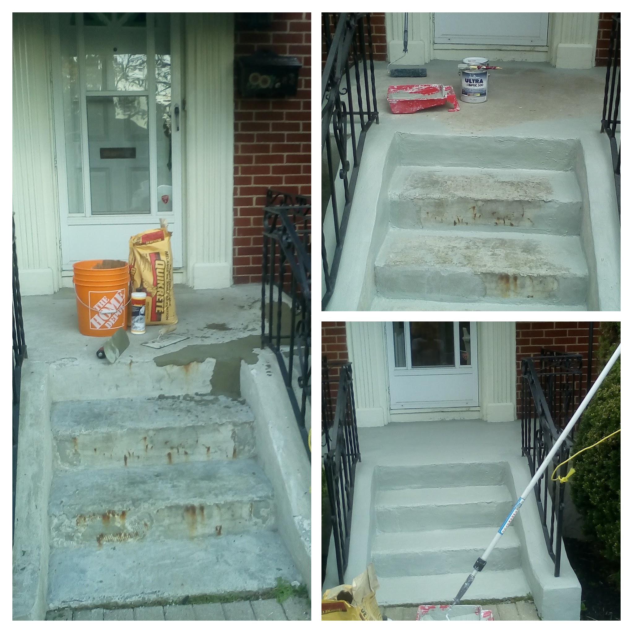 Entrance Concrete repair- painting