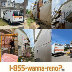 Siding installation in Whitby