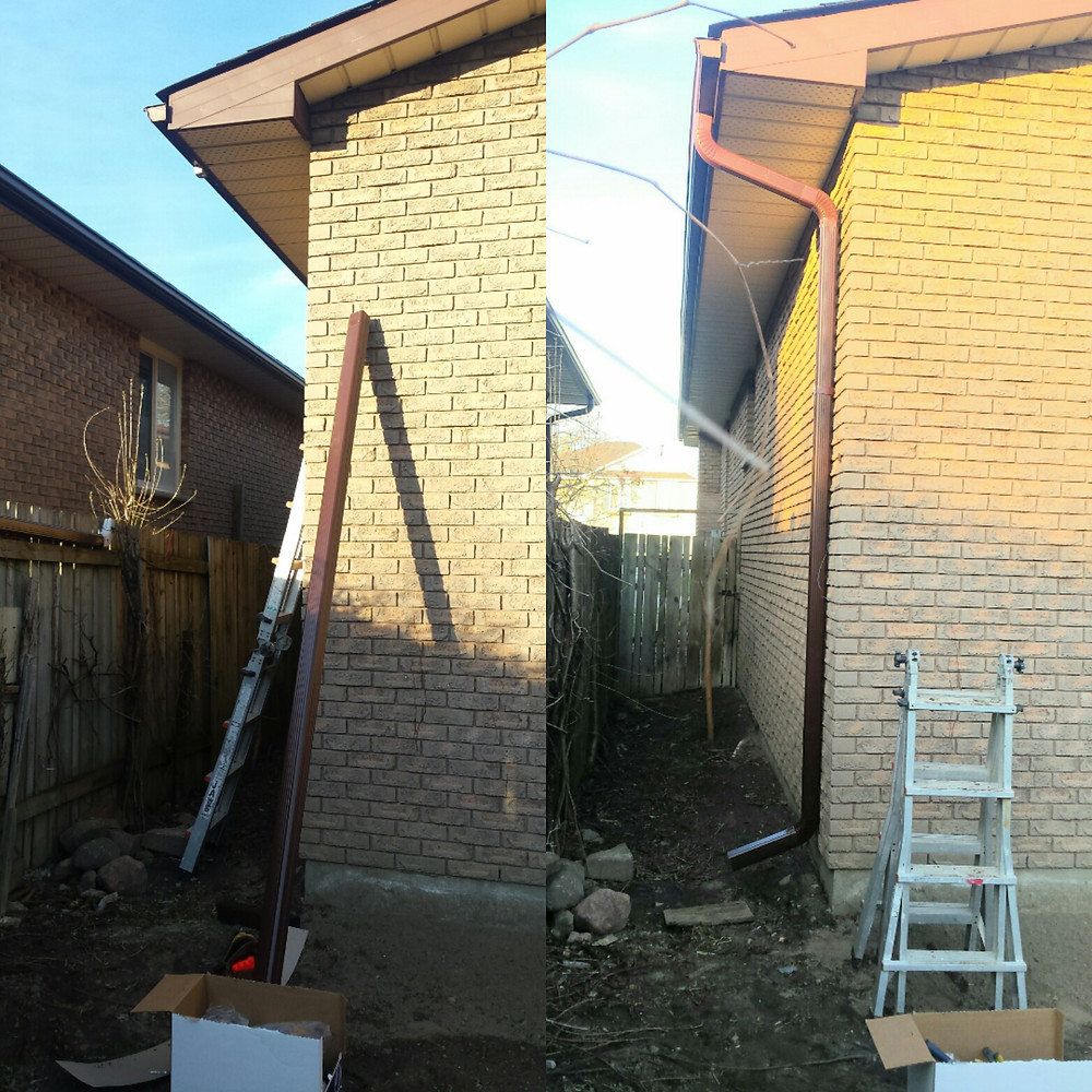 downpipes installation