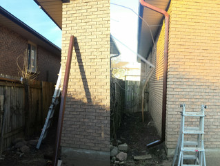 Downpipe installation | Taking the water away from your house.