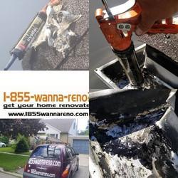 Eavestrough repair done in Pickering