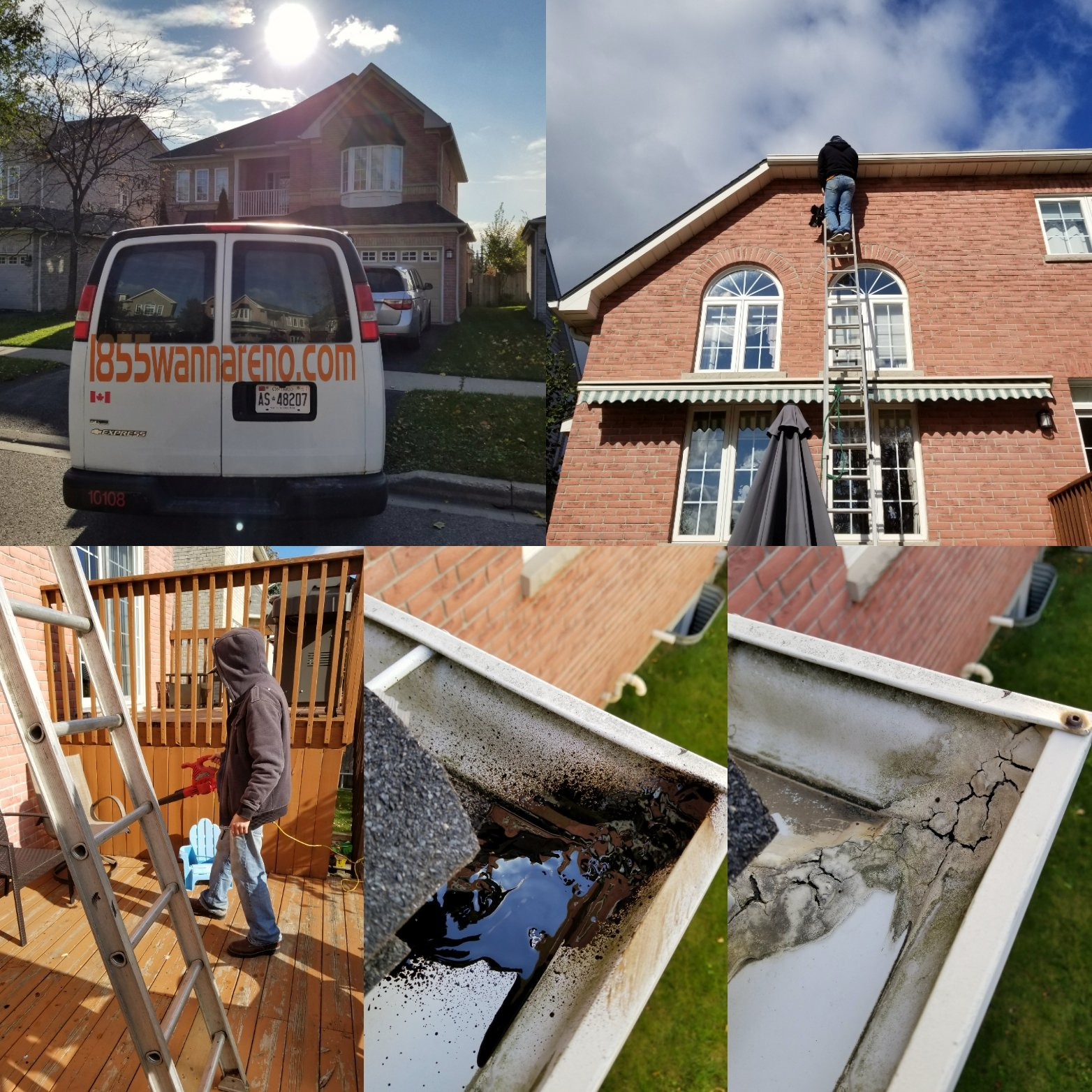 Eavestrough repair,cleanup in Whitby
