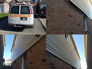 Kaycan Vinyl Siding repair in Ajax (Durham, ON)