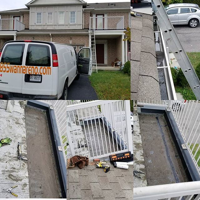 Eavestrough and flat roof repair in Ajax #eavestroughrepairdurham #seamlesseavestrough #eavestroughw