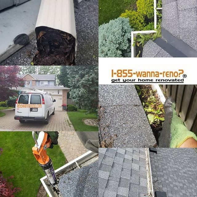 Eaveatrough repair and cleaning done in