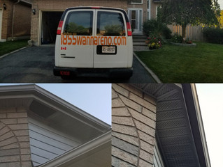 Soffit repair in Whitby