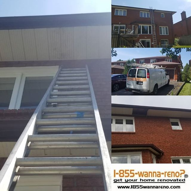 Soffit and fascia repair done in Oshawa.