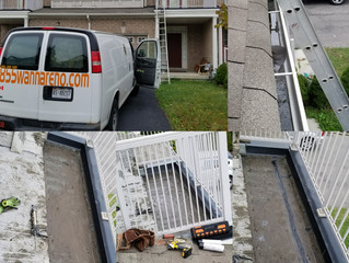 Flat roof repair and Eavestrough repair in Ajax