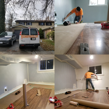 Residential interior painting in Pickering