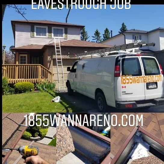 Eavestrough repair Oshawa