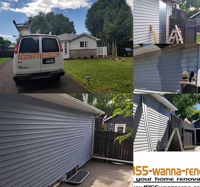 Siding repair and painting in Durham