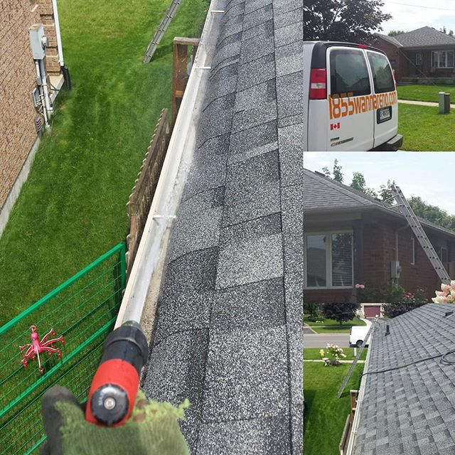 Seamless eavestrough repair and clean up in Courtice