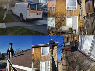 Eavestrough repair and downpipes installation in Pickering. Durham and GTA