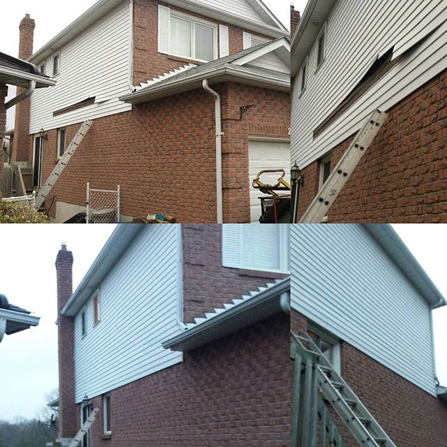 Siding repair in Durham (Whitby)