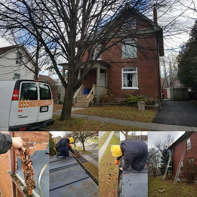 Eavestrough repair & clean in Oshawa