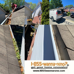 Eavestrough repair and eavestrough cleaning in Oshawa.ON #eavestroughwhitby
