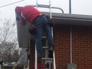 How to maintain the water draining properly away from your house: Eavestrough, leafguard, Windows ma