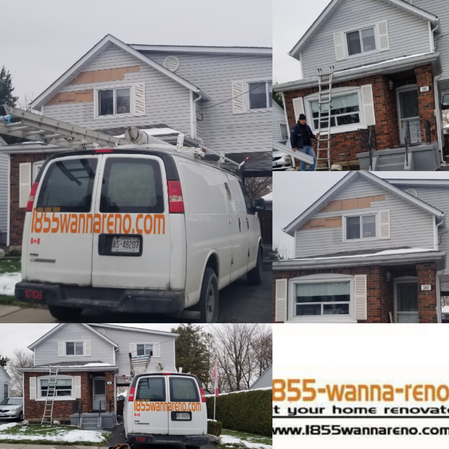 Siding repair in Oshawa