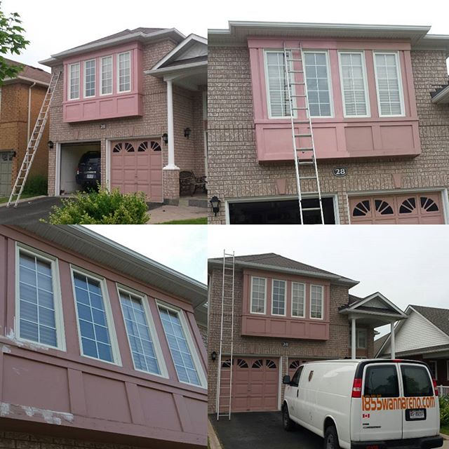 Exterior painting and wood work in Ajax.