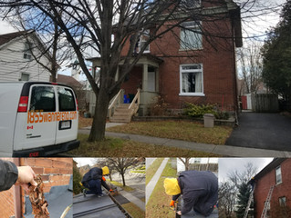 Spring season maintenance around the house:Roof repair, Eavestrough repair, Gutter cleaning, Leafgua