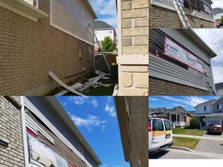 Siding repair in Oshawa.Durham.ON