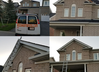 Aluminum fascia installation in Whitby: No pre-made materials