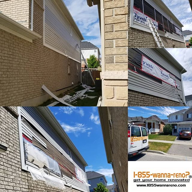 Siding installation in Oshawa