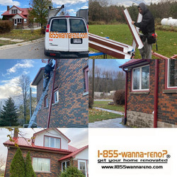 Roof repair & Seamless eavestrough installation in Whitby