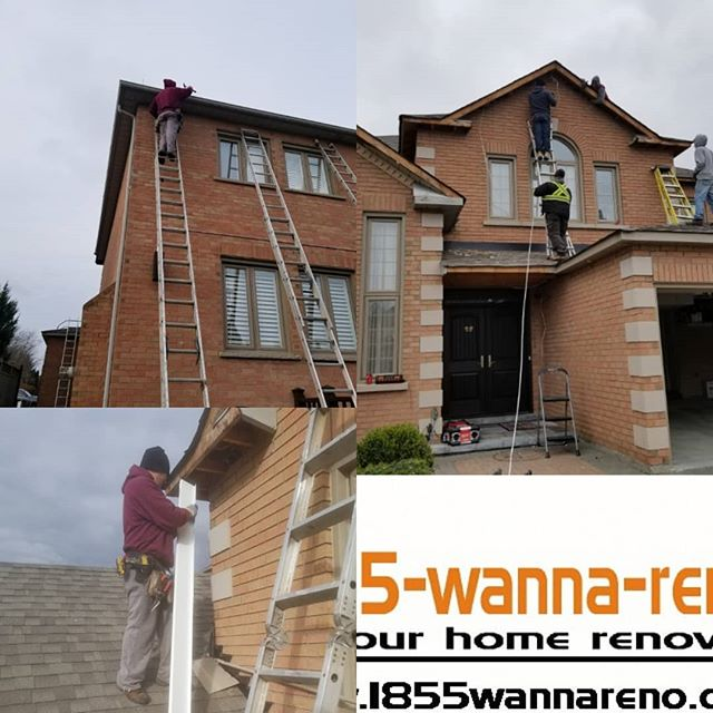 Eavestrough, roofing, soffit, fascia and