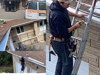 Eavestrough installation, eavestrough repair, eavestrough cleaning and leafguard in Whitby.ON