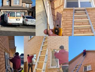 Caulking job around the Windows in Durham GTA Whitby Oshawa Ajax Pickering