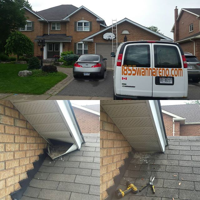 Soffit & fascia repair in Whitby