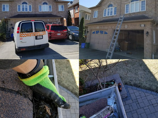 Eavestrough cleaning, eavestrough repair and caulking job done in Ajax (Whitby, Oshawa and Pickering